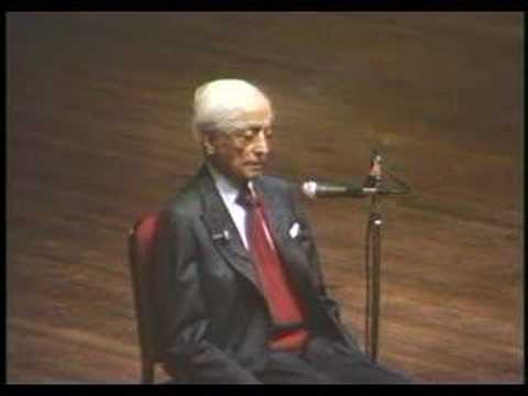 Krishnamurti: At The End Of Sorrow Is Passion (5 of 10)