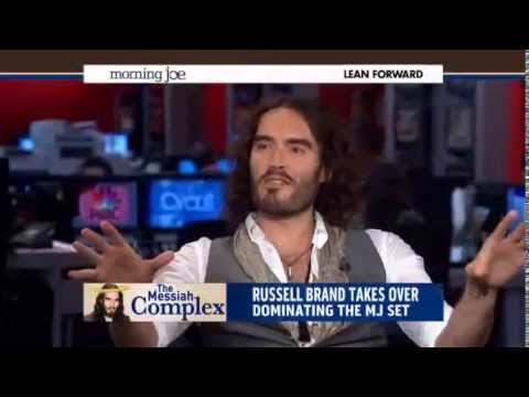 Watch: Russell Brand reduces US news anchors to nervous wrecks on live TV