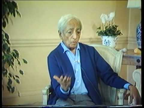 Krishnamurti: The Nature Of Thought (2 of  6)