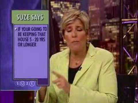 Suze Orman: Advice On Adjustable Rate Mortgages