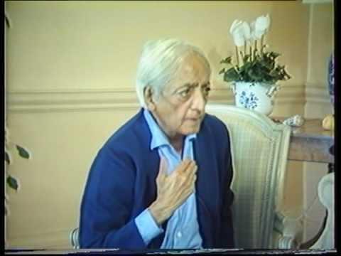 Krishnamurti: The Nature Of Thought (4 of  6)