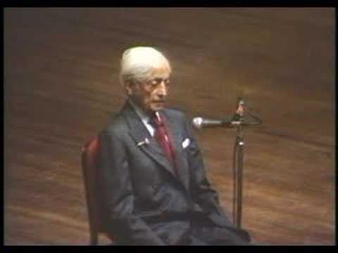 Krishnamurti: At The End Of Sorrow Is Passion (1 of 10)