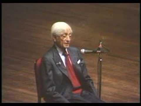 Krishnamurti: At The End Of Sorrow Is Passion (6 of 10)