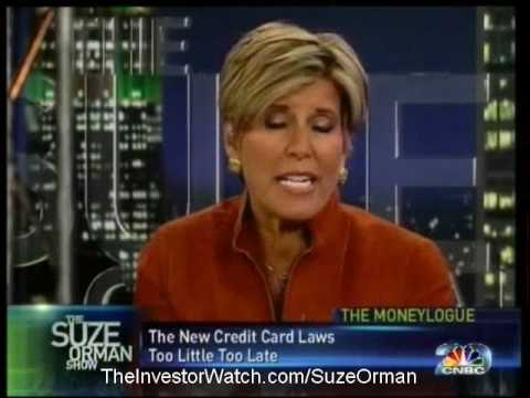 Suze Orman: Changes To Credit Card Law