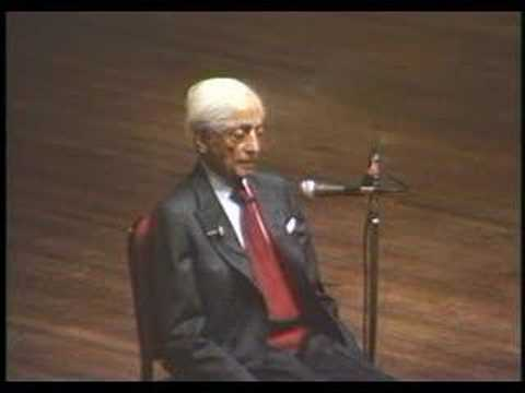 Krishnamurti: At The End Of Sorrow Is Passion (4 of 10)