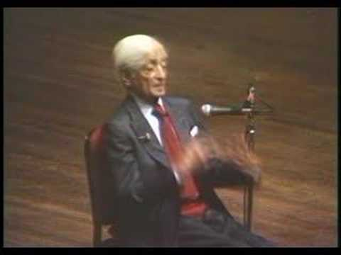 Krishnamurti: At The End Of Sorrow Is Passion (8 of 10)