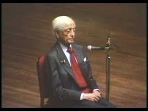 Krishnamurti: At The End Of Sorrow Is Passion (10 of 10)