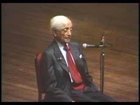 Krishnamurti: At The End Of Sorrow Is Passion (9 of 10)